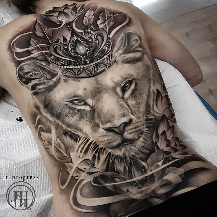 Jieny RH | Tattoo | Lioness