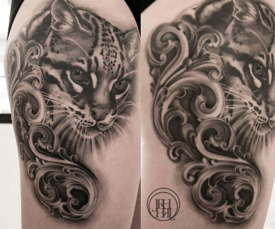 Jieny RH | Tattoo | Ocelot