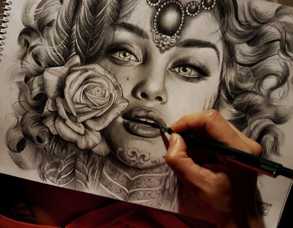 Jieny RH | Tattoo | Tattoo Sketch
