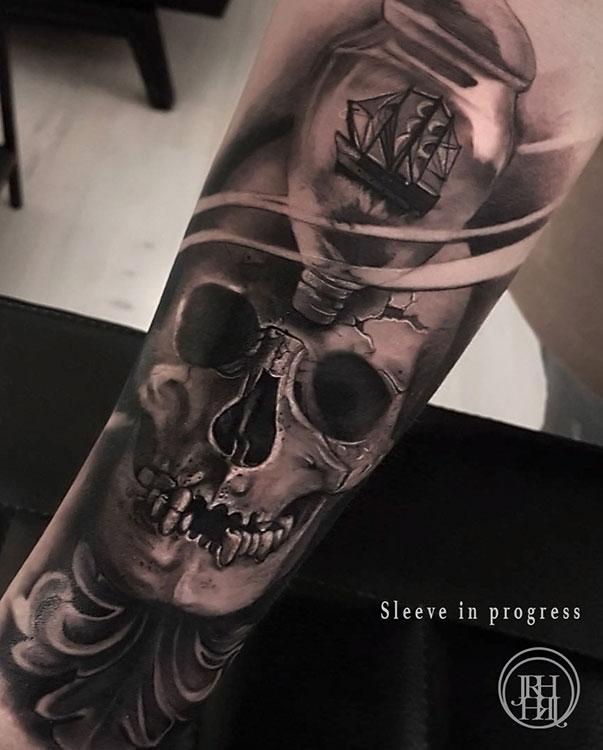 Jieny RH | Tattoo | Skull