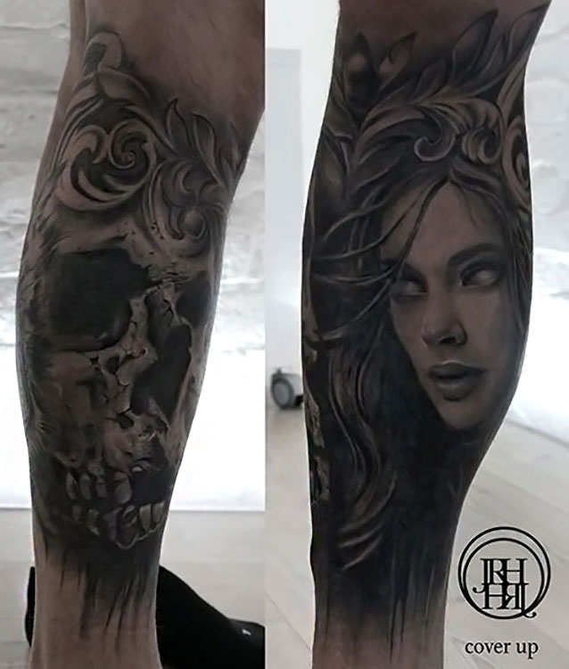Jieny RH | Tattoo | Skull Cover