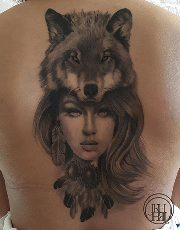 Jieny RH | Tattoo | Wolvegirl